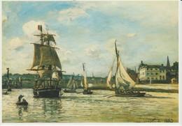 (ART34) JOHAN BARTOLD JONGKIND . DE HAVEN VAN HONFLEUR - Paintings