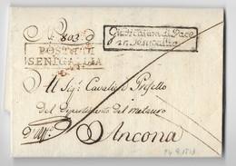PERIODO NAPOLEONICO - DA SENIGALLIA AD ANCONA - 24.9.1813. - Italia
