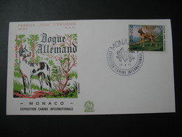 FDC  Monaco  1972  N° 880 Exposition Canine Dogue Allemand - FDC