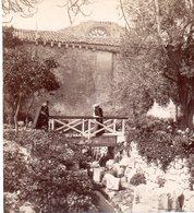 AK-1434/ Syrakus S. Giovanni, Klosterhof Italien Stereofoto V Alois Beer ~ 1900 - Stereoscopio