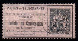 TELEPHONES -  YT N° 8 - Cote: 18,00 € - Télégraphes Et Téléphones