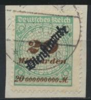 Deutsches Reich Dienst 87 O Briefstück Stempel Nicht Prüfbar - Dienstpost