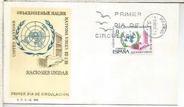 ESPAÑA SPD FDC NACIONES UNIDAS ONU UNO UNITED NATIONS - ONU