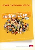 Carte Postale - Fête De La BD - SNCF - Astérix - Corto Maltese - Titeuf - Alix - Spirou - Le Chat - Blake Et Mortimer... - Cartoline Postali