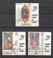 Spain. 1983 - Vidrieras Ed 2721-23 (**) + Etiq - 1981-90 Ongebruikt