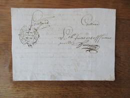 16 JUIN 1750 G.DE POITIERS HUIT  DEN.  M.CLAUDE ALEXIS DELABARRE LONDIERE CHEVALIER SEIGNEUR DU PUY DORE DAME LOUI - Cachets Généralité
