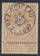 """Expositions - N°72 Obl Simple Cercle """"Grez-Doiceau"""" - 1894-1896 Ausstellungen"""