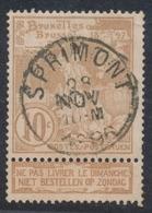 """Expositions - N°72 Obl Simple Cercle """"Sprimont"""" - 1894-1896 Ausstellungen"""