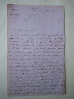 Lettre Autographe FRANCOIS BULOZ (1803-1877) Directeur Revue Des Deux Mondes - Autographes