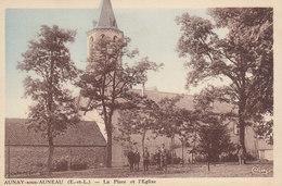 28 /  Aunay Sous    Auneau  :  La Place        ////   JANV. 20 ///  BO. 28 - Andere Gemeenten