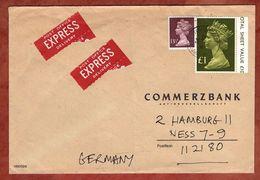 Express, Machin, Southampton Nach Hamburg 1980 (90226) - 1952-.... (Elisabeth II.)