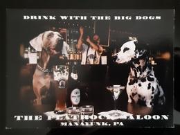 Drink With The Big Dogs Carte Postale - Pubblicitari