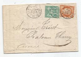 - SEINE - PARIS - Càd T.17 S/Affr. Mixte Sage N°65+Siège N°38 - 1877 - 1876-1878 Sage (Type I)