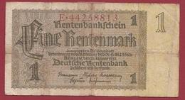Allemagne 1 Rentenmark Du 30/01/1937 Dans L 'état - Other