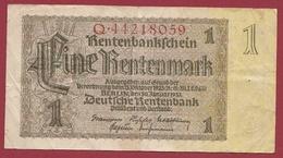 Allemagne 1 Rentenmark Du 30/01/1937 Dans L 'état - [ 4] 1933-1945 : Troisième Reich