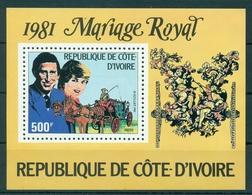 IVORY COAST * 1981 * S/Sheet * MNH** Royal Wedding - Mi.No BL18 - Côte D'Ivoire (1960-...)