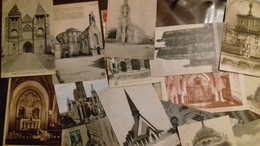 Lot D'environ 60 Cartes D'eglises - Postkaarten