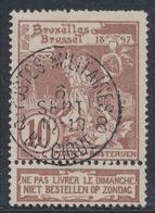 """Expositions - N°73 Obl Simple Cercle """"Postes Militaires Belgique 8"""" / Curiosité - 1894-1896 Expositions"""