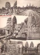 CAMBODGE Lot De 7 Cartes Postales Anciennes Des Ruines D'ANGKOR-VAT De L'éditeur Crespin De Saïgon - Cambodge