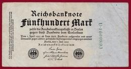 Allemagne 500 Mark Du 07/07/1922 Dans L 'état - [ 3] 1918-1933 : République De Weimar