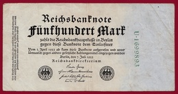 Allemagne 500 Mark Du 07/07/1922 Dans L 'état - [ 3] 1918-1933 : República De Weimar