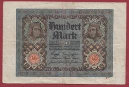 Allemagne 100 Mark Du 15/09/1922  Dans L 'état - [ 3] 1918-1933 : República De Weimar