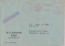 Brief Zoohandlung Schiebold Mit Absenderfreistempel, Erfurt, 1963 - [6] République Démocratique