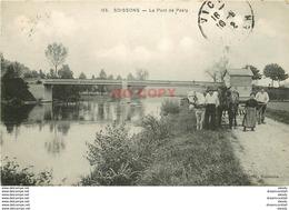 WW 02 SOISSONS. Le Pont De Pasly 1912 Avec Chevaux De Halage Ou De Labours - Soissons