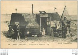 80 CAYEUX-SUR-MER. Au Pauvre Toto Habitation De Pêcheurs. Filets Pour Crustacés Et Poissons 1921 Ancien Bateau De Pêche - Cayeux Sur Mer