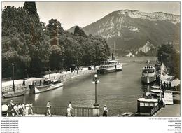 Photo Cpsm Cpm 74 ANNECY. Port Et Mont Veyrier. Pour Le Perreux 1956 - Annecy