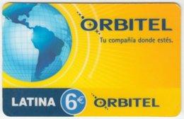 SPAIN A-781 Prepaid Orbitel - Map, Globe - Used - Other