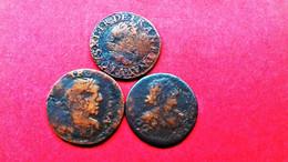 FRANKREICH Double Tournois 1630 1637 1639 LOT 3 Stück !!! Louis XIII (1610-1643) - 1610-1643 Louis XIII Le Juste