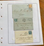 FRANCIA - 1853-75 COLLEZIONE DI LETTERE : 28 PEZZI DIVERSI - 1853-1860 Napoleone III