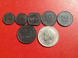 Münzen Lot Niederlande 7 Münzen Von 1 Cent, 5 Cent, 10 Cent, 25 Cent Zink  Bis 1 Gulden Silber 1923 - [ 3] 1815-… : Royaume Des Pays-Bas