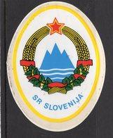 YUGOSLAVIA, SLOVENIA, CAR STICKER, LABEL, 7.5 X 10 Cm - Hotel Labels