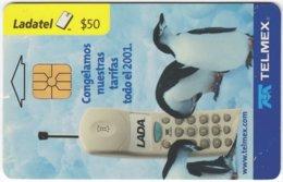 MEXICO B-044 Chip Telmex - Communication, Mobile Phone, Animal, Penguin - Used - Mexiko