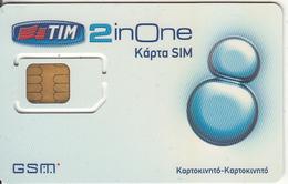 GREECE - 2 In ONE, TIM GSM, Chip TM1, Mint - Grecia