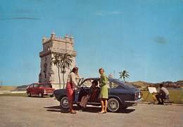 """0968"""" LISBOA-(PORTOGALLO)  LA TORRE DI BELEM"""" AUTO FIAT 850 CART. ILL. ORIG. - Lisboa"""