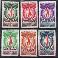 France ;JYG; 1969/75; N°Y :service39-40-42/45; Neuf *; UNESCO : Cote Y :8.00 E. - Neufs