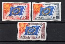 France ;JYG; 1963; N°Y :service33 -31 -35; Neuf *; Conseil De L'Europe : Cote Y :6.00 E. - Neufs