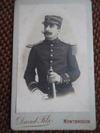 CDV Militaire Lieutenant D'Infanterie - Voir Grade Et Epaulette - Photo David Fils, Monbrison - TBE - Guerre, Militaire