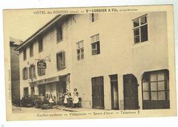 LES ROUSSES - Hôtel Cordier - Bon état - Circulée 1934 - Autres Communes