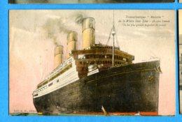 """OLI300, Transatlantique """"Majestic"""" De La White Star Line, Circulée 1927 Sous Enveloppe - Paquebote"""