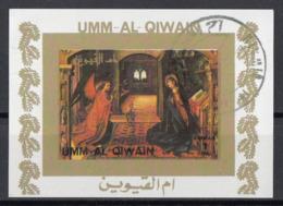 "Umm Al Qiwain 1972 Bf. 1166 ""Annunciazione..."" Quadro Dipinto Da Pedro Berreguete CTO Imperf. Paintings Tableaux - Umm Al-Qiwain"