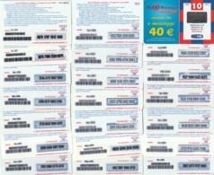 LOTTO 21 RICARICHE TIM DIFFERENTI MXM10 (RH125 - [2] Sim Cards, Prepaid & Refills