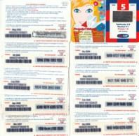 LOTTO 10 RICARICHE TIM DIFFERENTI RET4K (RH126 - GSM-Kaarten, Aanvulling & Voorafbetaald