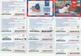 LOTTO 12 RICARICHE TIM DIFFERENTI WEB MWE TSC10 (RH157 - [2] Sim Cards, Prepaid & Refills