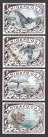 1990 Tonga Niuafo'ou  Whaling Whales Complete Set Of 4 MNH - Tonga (1970-...)
