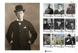 Ukraine 2020, England Politician Writer Winston Churchill, Sheetlet Of 9v - Ucrania