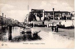 VENEZIA -Ponte  E Campo S. Alvise,   Ed. Brunner Como Zurigo, Stab. Eliografico, Um 1900 - Venezia (Venice)